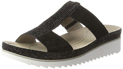 Gabor Fashion, Mules Femme Noir (schwarz Glitter)