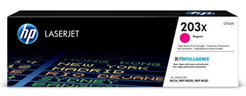 HP 203X (CF543X) Original Toner (mit hoher Reichweite für HP LaserJet Pro M254, HP LaserJet Pro M280, HP LaserJet Pro M281) rot -