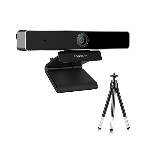 Webcam 1080p, PAPALOOK PA920 HD Cámara Web con Micrófono y Trípode Ajustable para PC, Cámara Web PC para Video Chat y Grabación, Compatible con Windows, Mac OS, Android