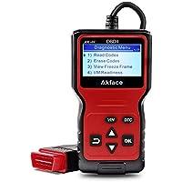 Akface Escáner OBD2, Sistemas de Diagnóstico del Motor OBDII, Lector de Códigos OBD2 Herramienta de Vehículos de Fallas con Lectura y Borrado de Códigos de Error Soporte Multilingüe