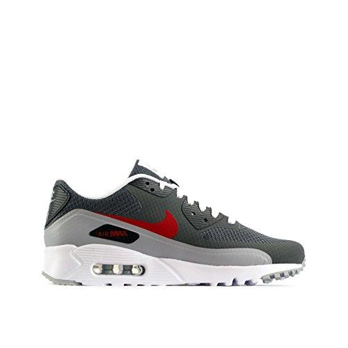 Nike Herren Air Max 90 Ultra Essential Turnschuhe dark grey gym red wolf grey anthracite 006