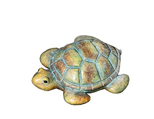 Teich-Schildkröte braun/grün/sand Keramik Breite 18 cm, Turtle, Teich, Gartendeko, Gartentier