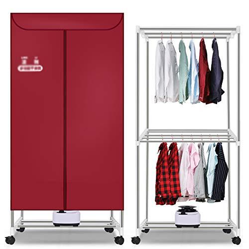 Vestiti domestici asciugatrice, asciugatrice, grande capacità, appendiabiti ad asciugatura rapida, multi-funzione di armadio portatile, clothesline di risparmio energetico, rosso