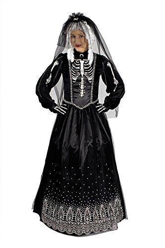 Panelize Queen of Darkness Schwarze Braut Halloweenkostüm Tag der Toten Skelett Geister (36/38)