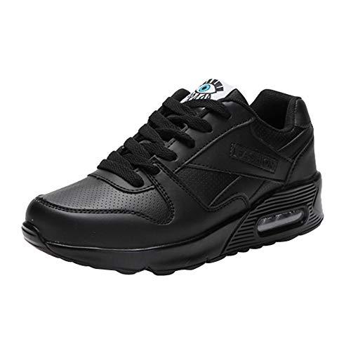 FNKDOR Mode Damen Schuhe Freizeitschuhe Outdoor Wanderschuhe Sneaker (35, Schwarz)