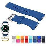 ifeeker -correa de reloj de repuesto Para Samsung Gear S2SM-R720/R730, 16colores disponibles, tamaño pequeño, silicona suave, diseño estándar para correa de reloj inteligente de Samsung Galaxy Gear S2SM-720/SM-730