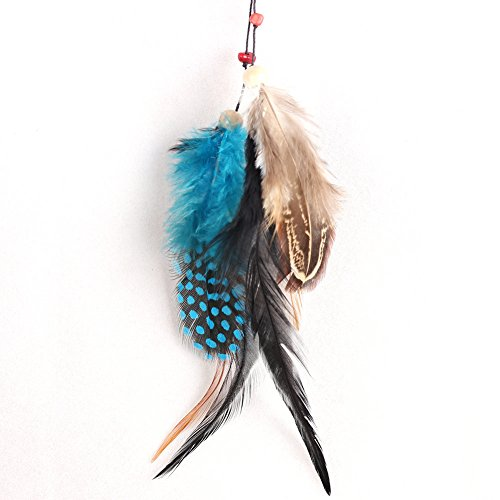 Acchiappasogni a rete con piume, realizzato a mano in stile tradizionale degli indiani d'America, decorazione da appendere alla parete o in auto, in vari stili, ottima idea regalo LD243 LD233