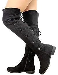 Amazon.fr   cuissarde - 38.5   Bottes et bottines   Chaussures femme ... 6239cab2ba35