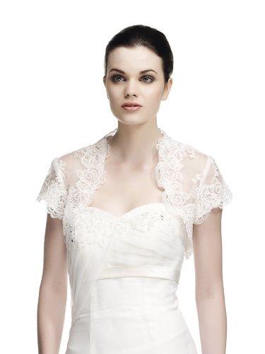 3662320530079 bolro femme de crmonie en dentelle brode pour mariage blanc s - Bolero Mariage Blanc