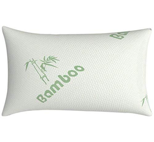 Tebery Bambuskissen aus Bambusfasern und Memory-Schaum Nackenstützkissen 70x40x18cm