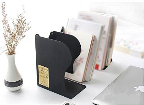 Blanco del negro ajustable del estudiante del estante del libro 15 * 19 * 10.5 / 43cm ( Color : Negro )