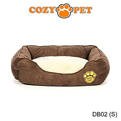 Cozy Pet Luxury Dog Bed with Faux Sheepskin Lining, Fully Washable, 6 Sizes, Cat Bed, Pet Beds
