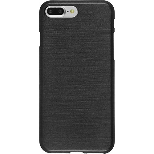 Coque en Silicone pour Apple iPhone 7 Plus - brushed vert pastel - Cover PhoneNatic Cubierta + films de protection argent