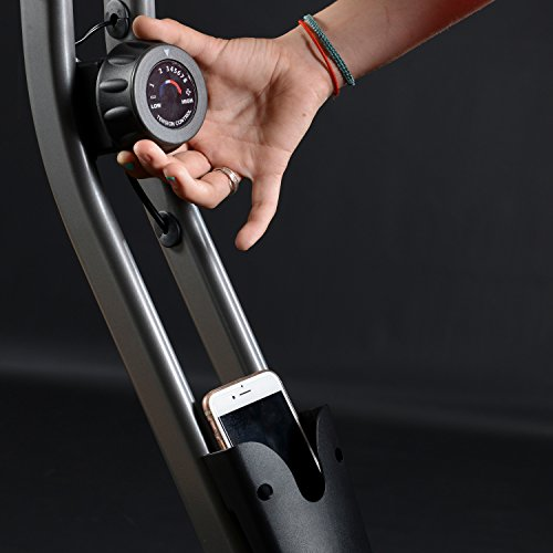 skandika Foldaway X-1000 Fitnessbike Heimtrainer klappbar mit Handpuls-Sensoren, 8-stufiger Magnetwiderstand, LCD Display ohne Rückenlehne - 5