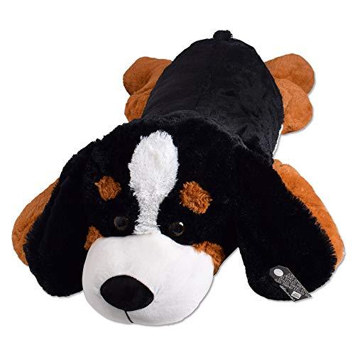 TE-Trend Riesen Plüschhund XXL Kuscheltier Plüsch Hund Plüschtier Stoffhund Kuschelhund 130 cm Mehrfarbig