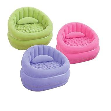 Intex Aufblasmöbel Loungen Sessel Cafe Chair, 91 x 102 x 65 cm, Farblich Sortiert