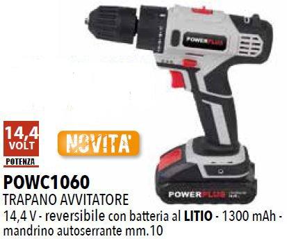 POWERPLUS POWC1060 TALADRO A BATERIA 14 4V LITIO