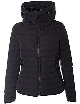 RR designs chaqueta para mujeres, acolchada, acolchada, con capucha, cuello de piel, cálida, gruesa, abrigo para...