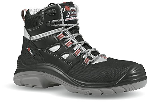 Scarpa Antinfortunistica Pelle Pieno Fiore Inserti Matrix Idrorepellente Cross S3 SRC U-Power Nero