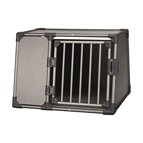 Trixie 39338 Transportbox, Aluminium, L: 92 × 64 × 78 cm, graphit