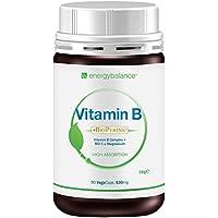 Vitamina B plus C HighAbsorption Complesso da lievito + BioPerine + Mg 630mg, 90 VegeCaps