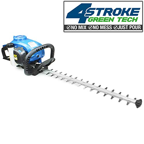 Hyundai HY4HT26 26cc 4-Stroke Petrol Hedge Trimmer/Cutter 58cm / 23 inch blade length 20 inch cutting length