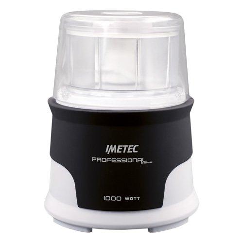 IMETEC F6101 Picadora, 1000 W, Acero Inoxidable, Blanco y Gris
