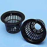 gengenric 10PCS plastica idroponica Sistema di Rete della Maglia Pot Carrello Aeroponic piantare Vaso Cup–D, C