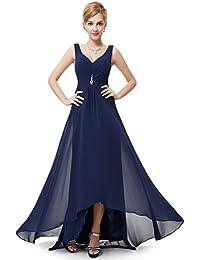 427411dd950 Ever-Pretty Robe de Soirée Double V-col Diamants synthétiques Devant la  Poitrine 09983