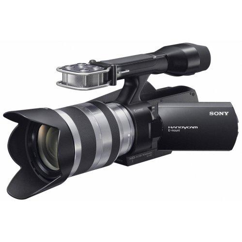 Sony NEX-VG10E HD Flash Camcorder (14 Megapixel, Full HD, 7,6cm (3,0 Zoll) Display) Kit schwarz inkl. 18-200mm Objektiv