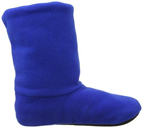 Woolsies Vagabond - Natural Wool And Fleece - Woolmark Certified Unisex-Erwachsene Hausschuhe Blue (Iris Blue)