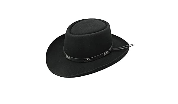 e83168ad256bc6 Stetson Dice - Wool Gambler Hat - Black -: Amazon.co.uk: Clothing
