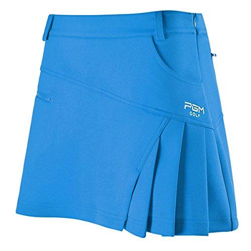 Damen Skort Golf Rock Sport Rock Integrierte Shorts Sport-Hosenrock, Blau, L Mädchen Fahrrad Shorts Größe 8