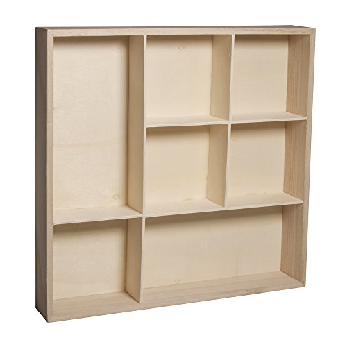 """Rayher étagère à casier €"""" meuble de rangement à 7 caiers pour ranger des bijoux, des parfums & Cie €"""" etagere en bois à décorer selon vos idées créatives"""