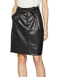 TOM TAILOR Damen Rock Paperbag Waist Pu Skirt