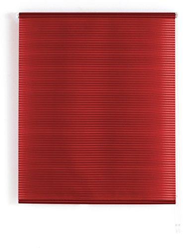 Blindecor l200-tenda a pacchetto in voile trasparente a righe 120 x 180 cm bordeaux
