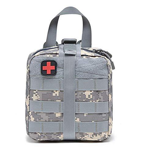 YZ-YUAN Erste-Hilfe-Kit, Field Tactical Medical Case, Outdoor-Multi-Purpose-Notfall-Rettungsschwimmgeräte, medizinische Aufbewahrungstasche für Auto Leere Tasche 8 * 7 * 3,7 Zoll,White -