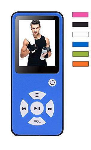 BERTRONIC ® MP3-Player Everest Royal - Blau - Musik/Video Player - 100 Stunden Audiowiedergabe, Metallgehäuse, Lautsprecher - Speicher bis zu 128 GB durch microSD + 4 GB Speicherkarte