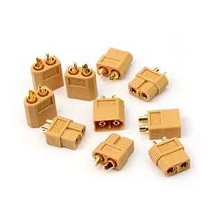 5 Paires Connecteurs XT60 Prise Balle Fiche Bullet Mâle Femelle Pr RC Batterie