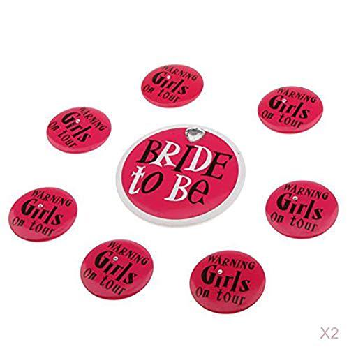 Zinn Girl Kostüm - Set mit 16 Aufnähern Warning Girls