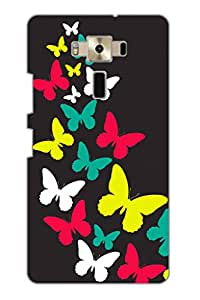 AMAN Butterfly Flying 3D Back Cover for Asus Zenfone 3 ZE520KL