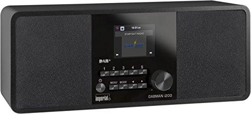 Imperial 22-231-00 Dabman i200 Internet/DAB+ Radio (Stereo Sound, UKW, WLAN, LAN, Aux-In, Line-Out, Kopfhörer Ausgang inkl. Netzteil) schwarz