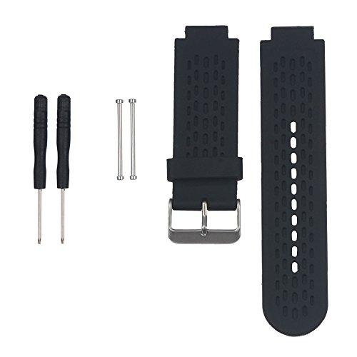 Xuniu Ersatz-Silikonband für Garmin Approach S2 / S4 GPS Golf Watch/Vivoactive (Schwarz)