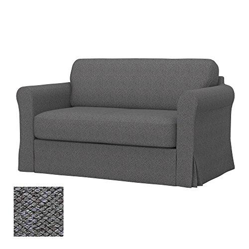 Soferia - IKEA HAGALUND Funda para sofá Cama, Nordic Grey