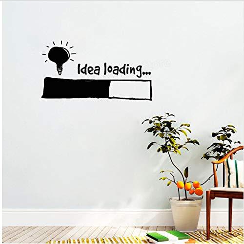 77X42cm Idee Laden Wandaufkleber Glühbirne Lampe Fenster Diy Aufkleber Aufkleber Büro Wanddekor Kreative Kinder Schlafzimmer Aufkleber Ornament