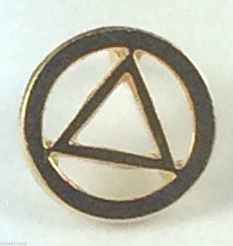 Emblems-Gifts Jacken-Abzeichen 'AA Anonyme Alkoholiker', vergoldet