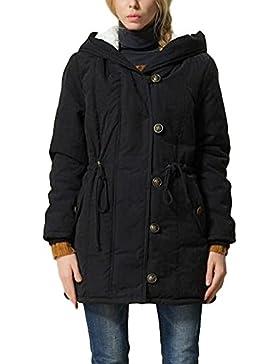 Minetom Mangas Larga Invierno Chaqueta Algodón Abajo Parka Mujer Sportswear Coat Mantener Caliente Estilo Clásico...