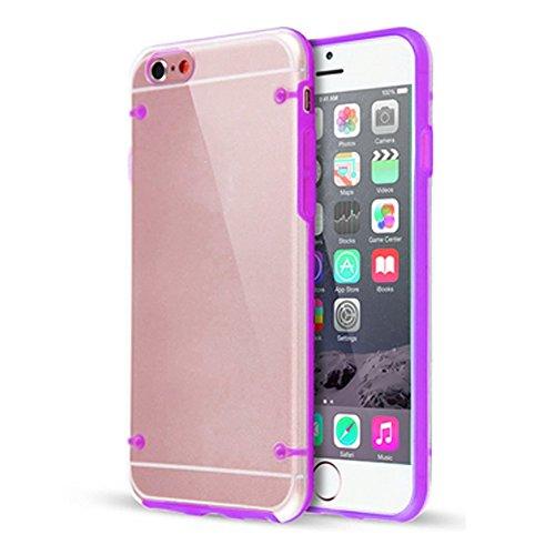 Hülle f Apple iPhone 6s Tasche Schutzhülle Silikon Case TPU Cover Kappe Bag NAUC, Farben:Lila Lila