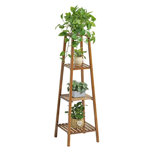 Lsrryd Soportes para Plantas Retro Multicapa balcón bambú Plantas Madera Flores Estantería Decorativa Macetas Exterior Interior 2/3 /4 Capas (Tamaño : 120x37x37cm)