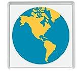 globo terrestre Americhe gli Emoji Pack di 4 80mm x 80mm Coaster